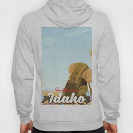See America - Idaho Backpacking travel poster Hoody