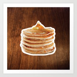 Pancakes! Art Print