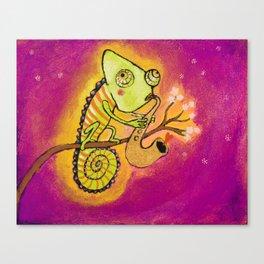 Chameleon in love Canvas Print