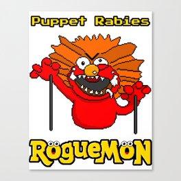 Puppet Rabies Canvas Print