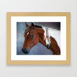 Paint horse Framed Art Print