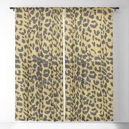 Leopard Ceylon Yellow Sheer Curtain