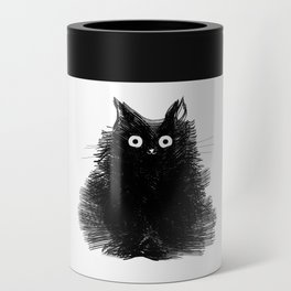 Duster - Black Cat Drawing Can Cooler