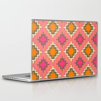 kilim Laptop & iPad Skins featuring tangerine kilim by Sharon Turner