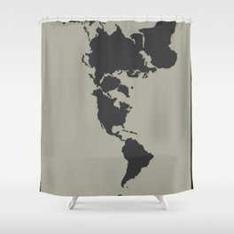 Dymaxion Map - Greys Shower Curtain