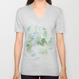180515 Watercolour Abstract  Wp 17| Watercolor Brush Strokes Unisex V-Neck