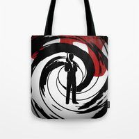 james bond Tote Bags featuring JAMES BOND by alexa