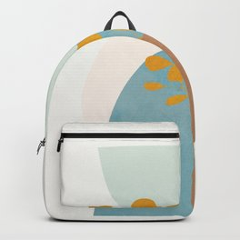 Soft Abstract Shapes 03 Backpack