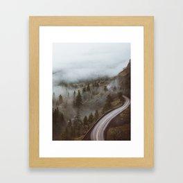 Foggy Rowena Crest Framed Art Print