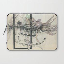 rose-Fish-bone dinosaur Laptop Sleeve
