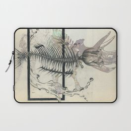 rose-Fish-bone dinosaur Laptop Sleeve