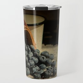 Blueberries in Basket - Old World Stills Series Travel Mug