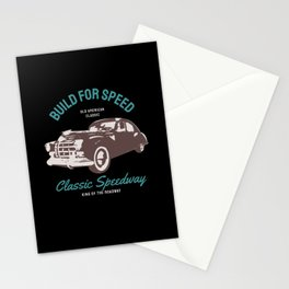 Vintage Sportscar classic Car Muscle Car Stationery Cards