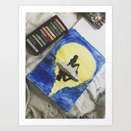 Ariel Pastel Art Print