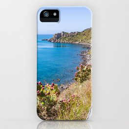 Nature vegetation above the sea nature reserve marine tranquil scene natural iPhone Case