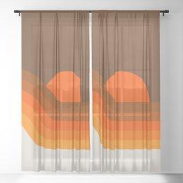 Golden Dipper Sheer Curtain