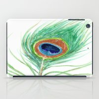 peacock feather iPad Cases featuring Peacock Feather by Brazen Edwards
