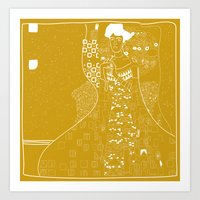gustav klimt Art Prints featuring Gustav Klimt  by Ian Cy