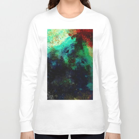 The Life In Your Veins - Abstract, acrylic, textured painting Long Sleeve T-shirt