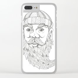 Paul Bunyan Lumberjack Doodle Art Clear iPhone Case