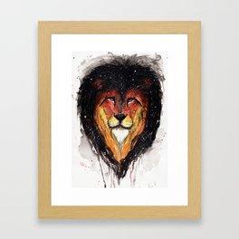 Fire Lion. Framed Art Print