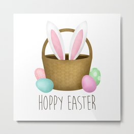 Hoppy Easter Metal Print