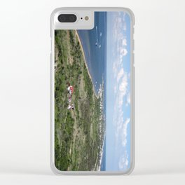 View of Fire Island, Long Island Clear iPhone Case