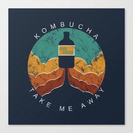 "KOMBUCHA ""Take Me Away"" Rocket // Mushroom Tea Graphic Design Scoby Health Drink Bubble Scooby Canvas Print"