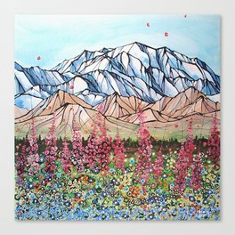 Denali Fireweed Canvas Print