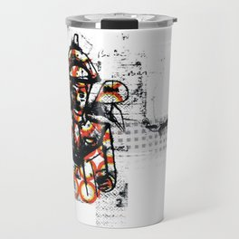Distressed textured Travel Mug