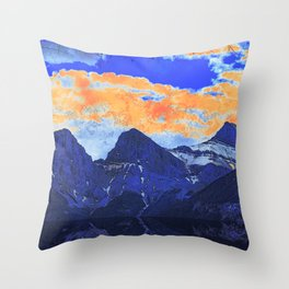 Faith - Hope - Charity - The Three Sisters Mountains, Canmore, AB, Canada Throw Pillow