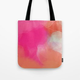 dreamy days in pink peach aquarell Tote Bag