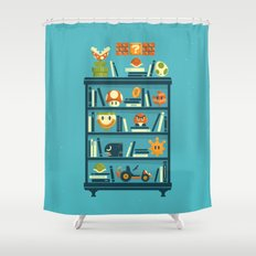 Mario Shelf Shower Curtain