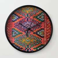 kilim Wall Clocks featuring Kilim by Selen Atac