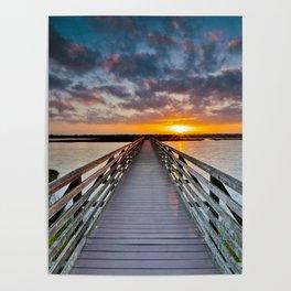 Bolsa Chica Wetlands Sunrise  6/18/14 Poster