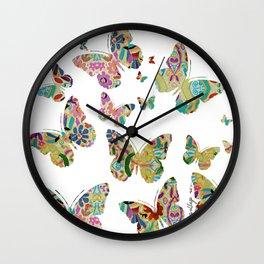 otomi butterflies Wall Clock