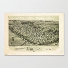 Aerial View if Monaca, Pennsylvania (1900) Canvas Print