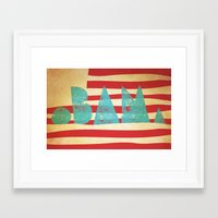 obama Framed Art Prints featuring oBAMa by Josh Franke