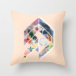 Geoflower Throw Pillow