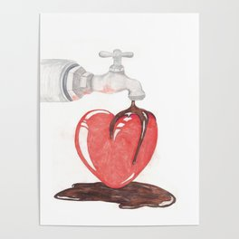 Valentine's Chocolate Heart Poster