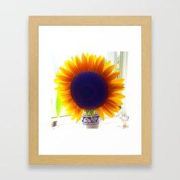 The Glowing Sunflower Framed Art Print