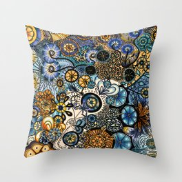 Growth in 3 Directions Throw Pillow