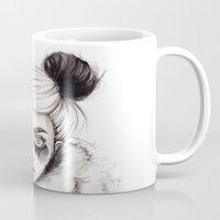 panda Mugs featuring Panda by Nora Bisi