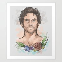 will graham Art Prints featuring Will Graham by skullfricked