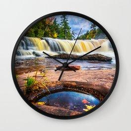 Mandio Falls - Porcupine Mountains Wall Clock