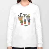 cactus Long Sleeve T-shirts featuring Cactus by Anita Dominoni