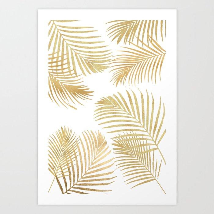 Gold Palm Leaves Kunstdrucke