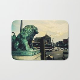 Kyoto temple entrance Bath Mat
