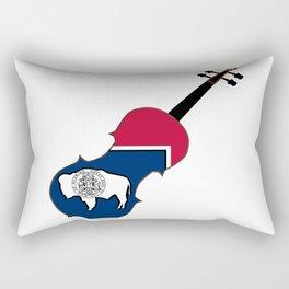 Wyoming State Fiddle Rectangular Pillow