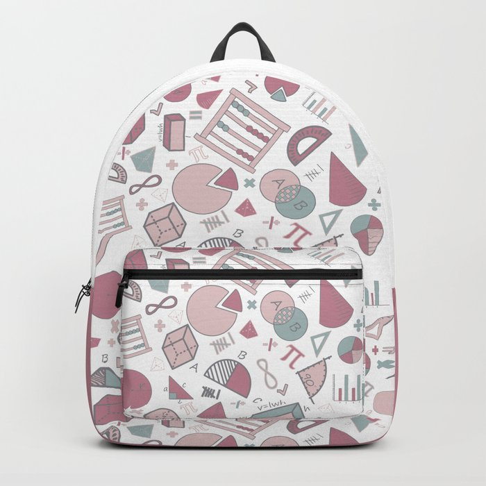 Math on White Backpack